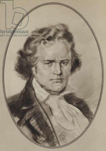 Portraits of Composers: Beethoven (litho)