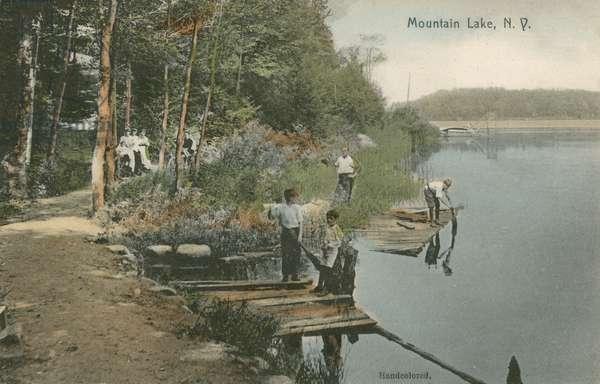 Mountain Lake, New York (colour photo)