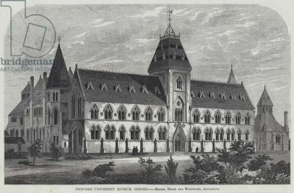 Proposed University Museum, Oxford (engraving)
