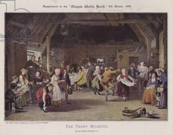 The Penny Wedding (colour litho)