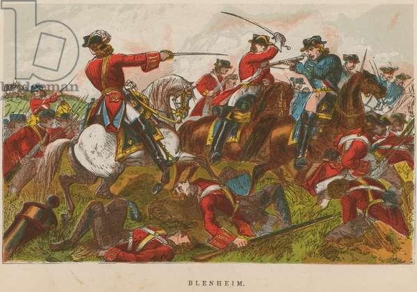 Blenheim (coloured engraving)