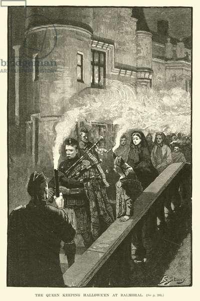 The Queen Keeping Hallowe'en at Balmoral (engraving)