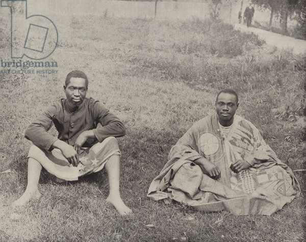 From far away Dahomey (b/w photo)