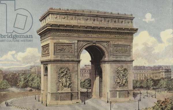 Paris, Arc de Triomphe de l'Etoile (colour photo)