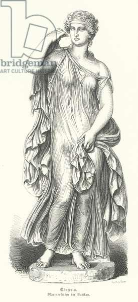 Ancient Greek dancer (engraving)