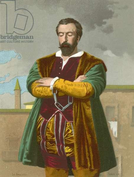 Father Juan de Padilla (chromolitho)