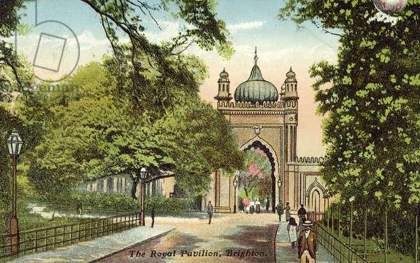 The Royal Pavilion, Brighton (colour litho)
