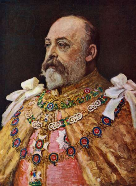 King Edward VII (colour litho)