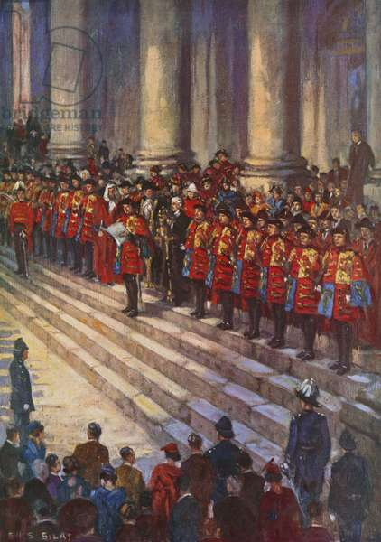 Proclamation of King George VI's accession (colour litho)