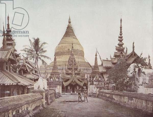 Gilded Pagoda at Pagan (coloured photo)