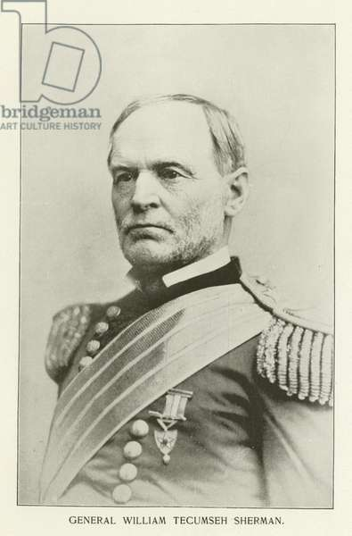 General William Tecumseh Sherman (black and white photograph)