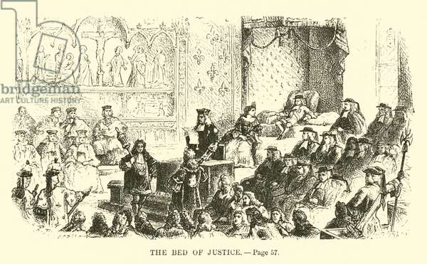 The bed of justice (engraving)