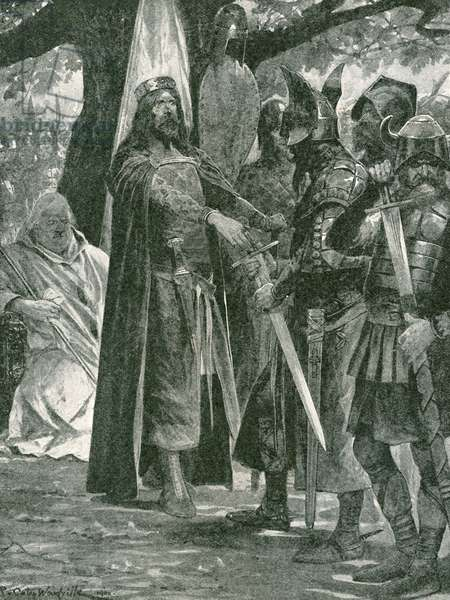 The military election of Alfred the Great, first king of all England (litho)