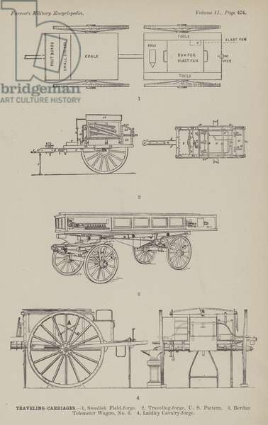 Travelling Carriages (engraving)
