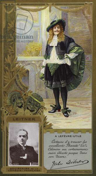 Jules Leitner, French comic actor (chromolitho)