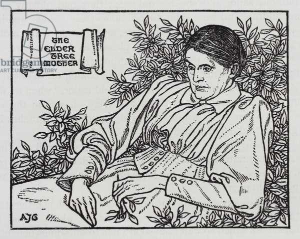 Hans Christian Andersen: The Little Elder-Tree Mother (litho)