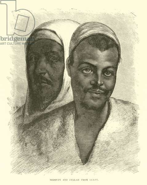 Bedouin and Fellah from Egypt (engraving)