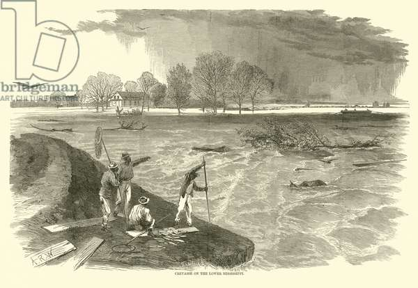 Crevasse on the Lower Mississippi, 1862 (engraving)