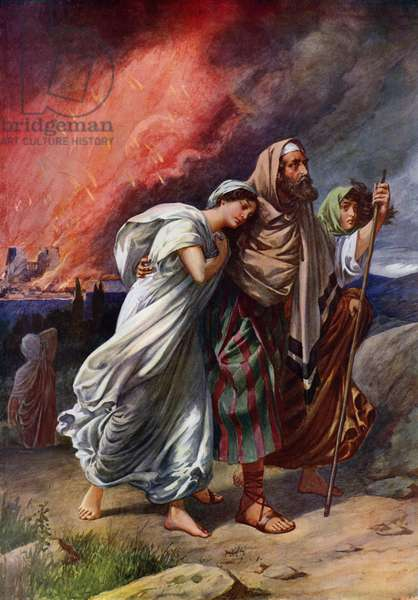 The Destruction Of Sodom (colour litho)
