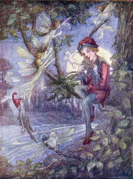 Peter Pan (colour litho)