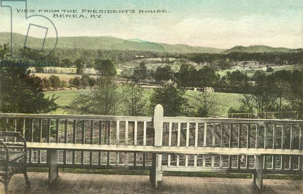 View from the President's house, Berea College, Kentucky (colour photo)