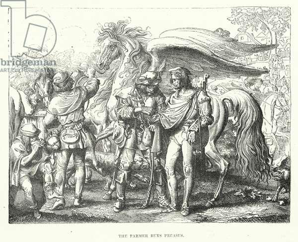 The farmer buys Pegasus (engraving)