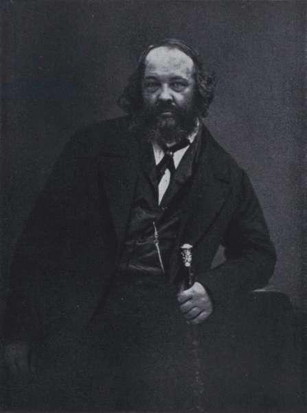 The revolutionary Michael Alexandrowitsch Bakunin (b/w photo)
