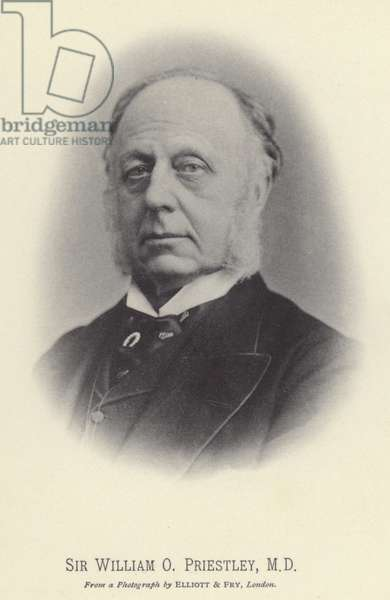 Sir William O Priestley, MD (b/w photo)