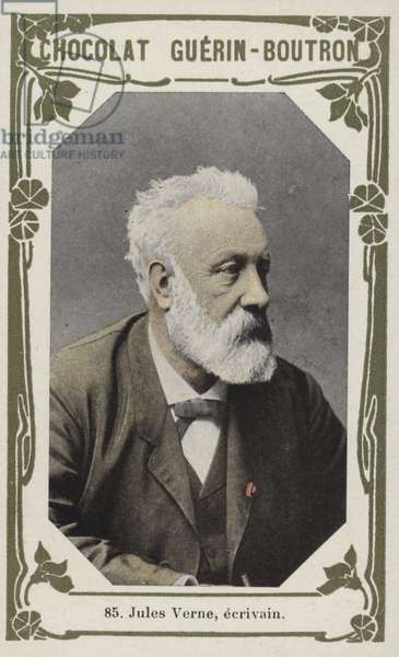 Jules Verne, ecrivain (coloured photo)