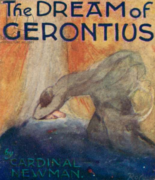 Illustration for The Dream Of Gerontius by Cardinal Newman (colour litho)