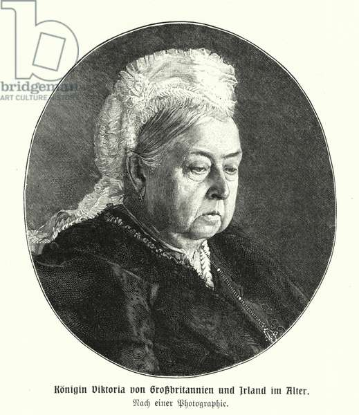 Queen Victoria in old age (engraving)