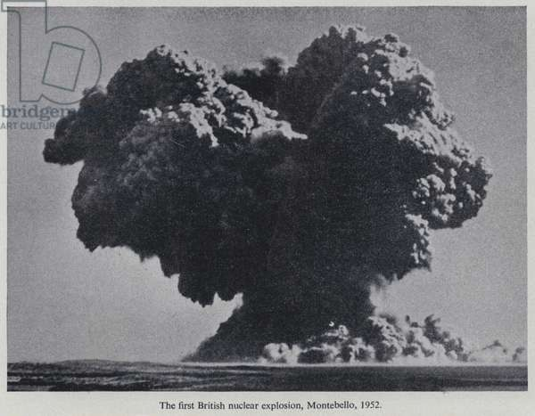 Operation Hurricane, the first British atom bomb test, Montebello Islands, Australia, 1952 (b/w photo)