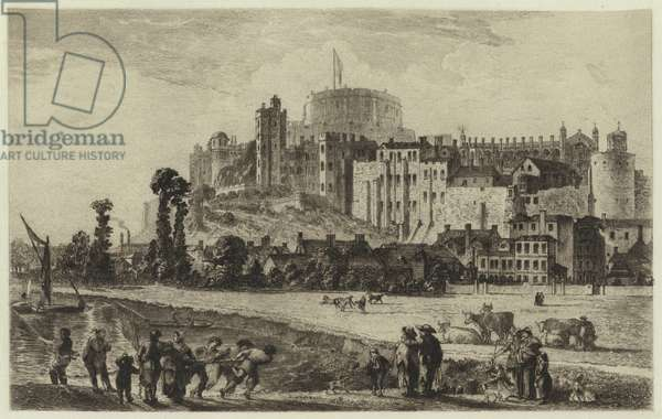 Windsor Castle in the Eighteenth Century (engraving)