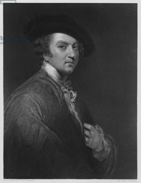 Sir Joshua Reynolds, from the picture in the Vernon Gallery (engraving)