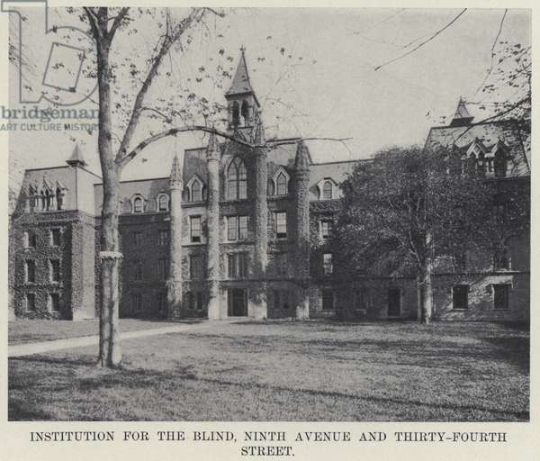 Institution for the Blind, Ninth Avenue and Thirty-Fourth Street (b/w photo)