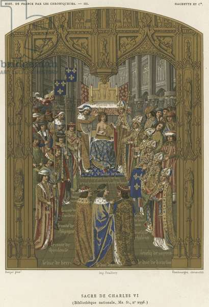 Coronation of Charles VI (chromolitho)