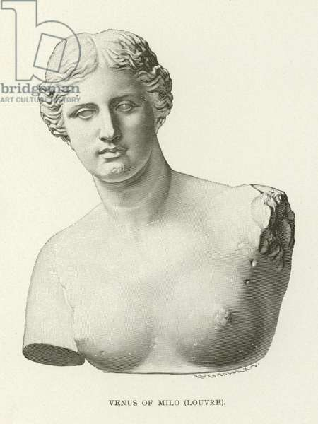 Venus of Milo, Louvre (engraving)