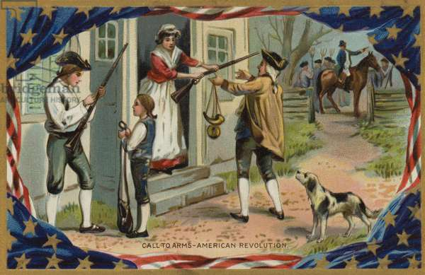 Call To Arms, American Revolution (colour litho)