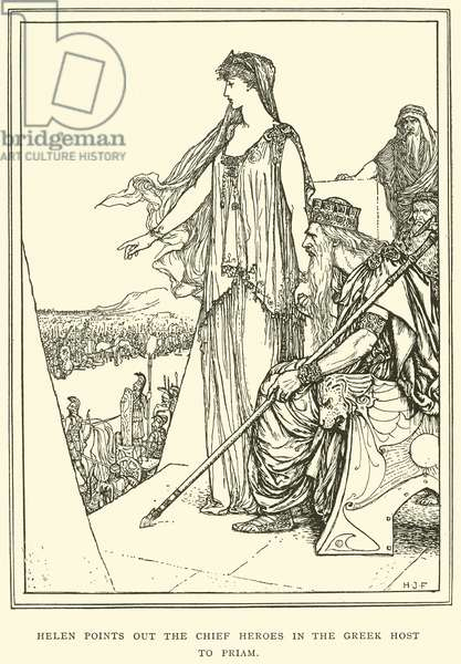 Helen Points out the Chief Heroes in the Greek Host to Priam (engraving)
