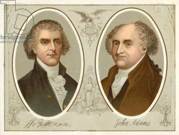 Thomas Jefferson, John Adams (chromolitho)