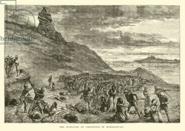 The Massacre of Christians in Madagascar (engraving)