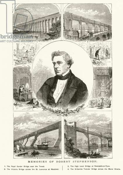 Memories of Robert Stephenson (engraving)