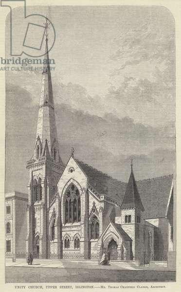 Unity Church, Upper Street, Islington (engraving)