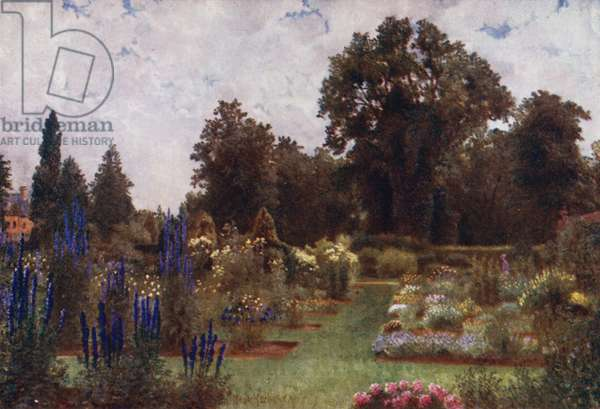 Kew Gardens: Herbaceous Gardens (colour litho)