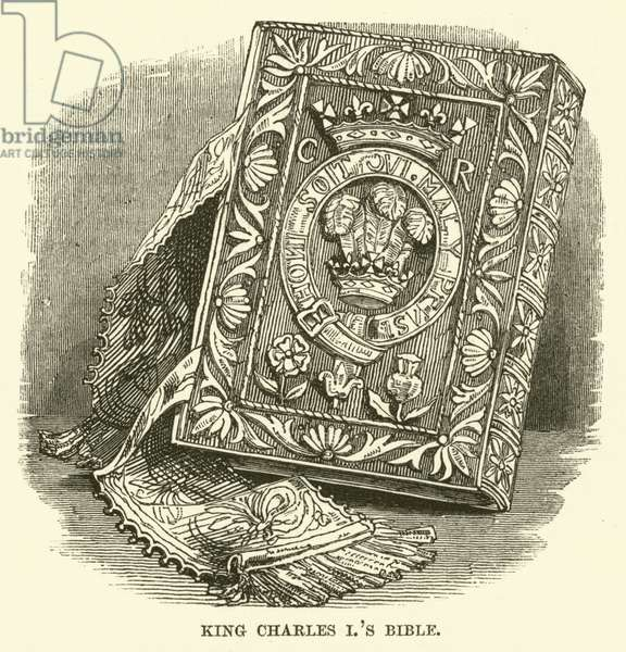 King Charles I's Bible (engraving)