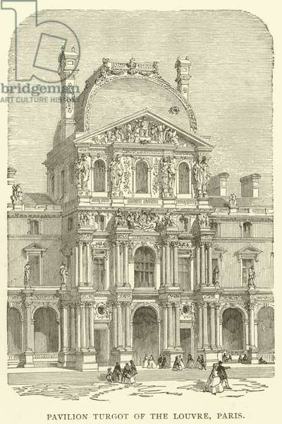 Pavilion Turgot of the Louvre, Paris (engraving)
