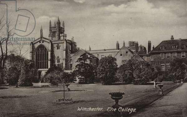 Winchester, the College (b/w photo)