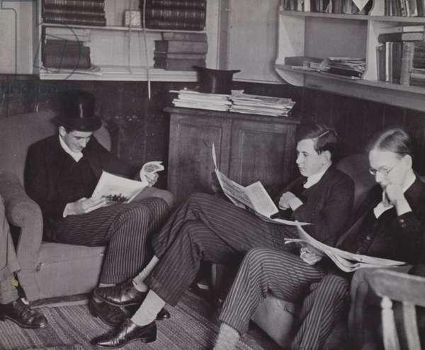 Tutors, The Library, Eton (b/w photo)