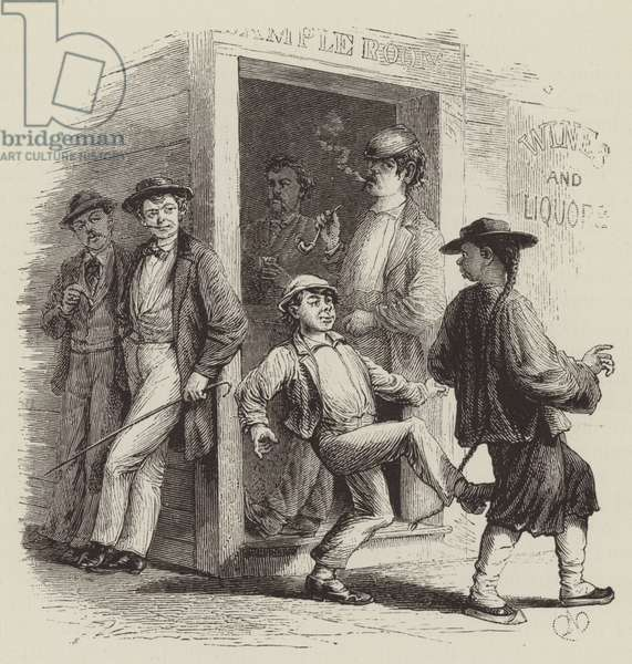 Attacking Chinese in San Francisco (engraving)