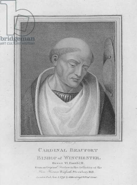Cardinal Beaufort, Bishop of Winchester (engraving)